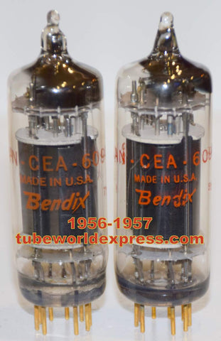 (!!!!) (Best Overall Pair) 6094 Bendix NOS 1956-1957 1st series made with mica supports at top (56ma and 57ma)
