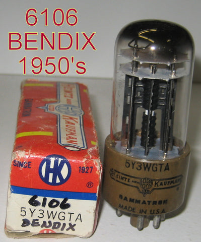 (!!!!) (#1 6106 Single) 6106 Bendix 1950's NOS rebranded 5Y3WGTA Heintz & Kaufman in 1970's (66/40 AND 67/40) 1-2% section balance