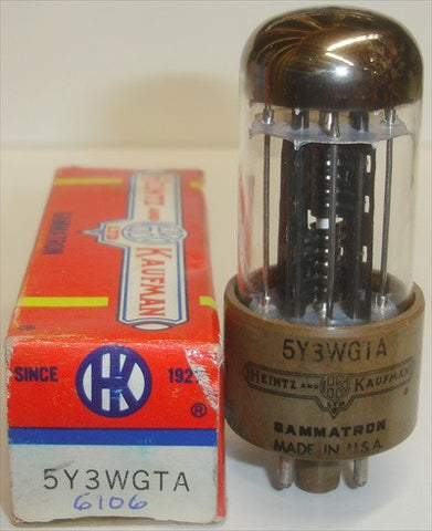 (!!!) (#1 6106 BEST VALUE) 6106 Bendix 1950's NOS rebranded 5Y3WGTA Heintz & Kaufman in 1970's slight glass tilt (66/40 and 70/40)