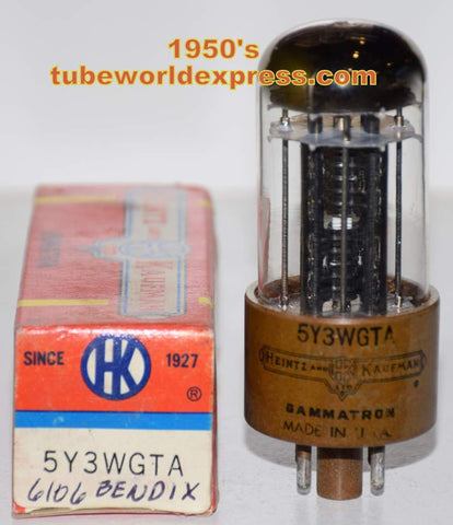 (!) (Recommended Single) 6106 Bendix rebranded 5Y3WGTA Heintz & Kaufman NOS (64/40 and 68/40)