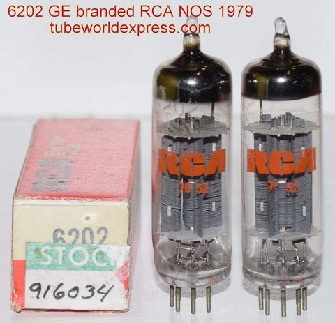 (!!) (#1 6202 Pair) 6202 GE branded RCA NOS 1979 (recommended)