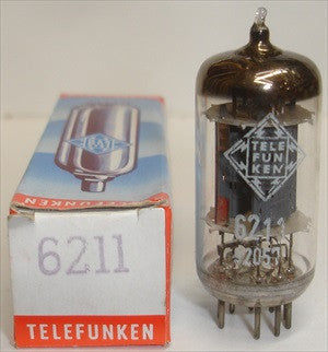6211 Telefunken Diamond Bottom NOS ribbed plates 1965 (5.1/5/7ma)