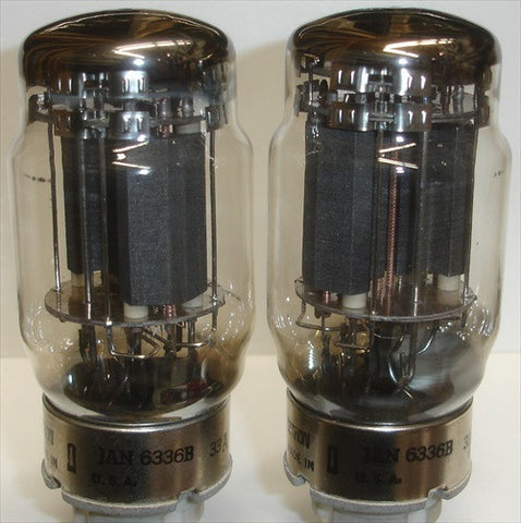 (!!!) (#1 6336B Cetron used pair) 6336B Cetron USA used/good 1981 (70/80ma and 80/90ma)