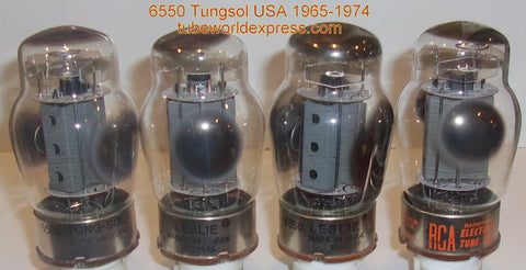 (!!!!) (#1 6550 Tungsol Quad) 6550 Tungsol USA gray plate with vent holes used/test strong 1965-1974 (129/132/132/132ma)