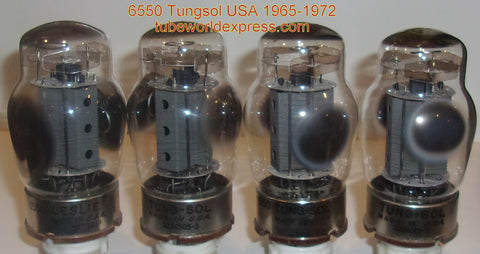 (!!!!) (#2 6550 Tungsol Quad) 6550 Tungsol USA gray plate with vent holes used/very good 1965-1972 (122/123/124/127ma)