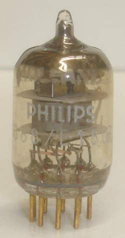 (!) (- Best Single) 6688=E180F Philips Holland NOS gold pins 1970 (21.8ma) (strong Ma and Gm)