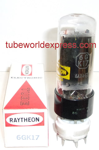 6GK17 Raytheon Japan NOS (sub for 6AX4GT) (7 in stock)