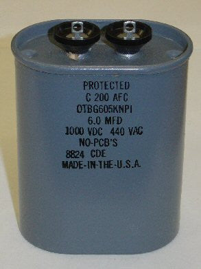 (!!!) 6uf/1000VDC CDE US made oil cap NOS 1988 (power supply or crossover cap) (27 in stock)