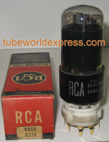 6AC5GT RCA coated glass NOS 1940's (36/21)