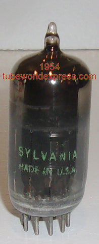 (!!) (#1 6AN8 Single) 6AN8 Sylvania coated glass black plate NOS 1954 (strong single)