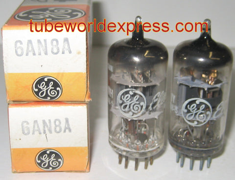 6AN8A GE probably made in JAPAN NOS (1 pair)