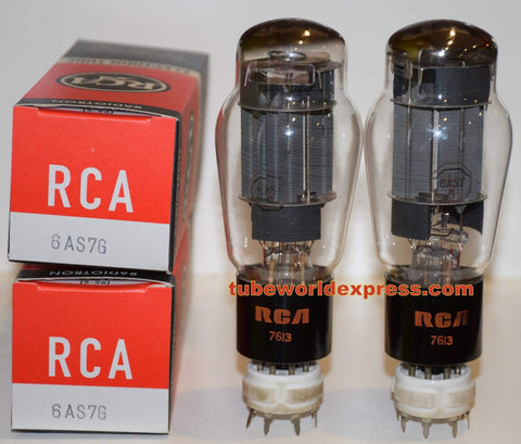 (!!!!!) (Best Value Pair) 6AS7G RCA NOS Gray Plates 1970's (61/70ma and 60/73ma)
