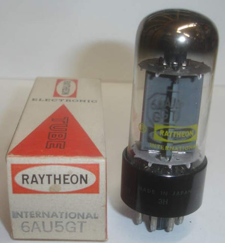 6AU5GT Raytheon Japan gray plate NOS 1960's (single)