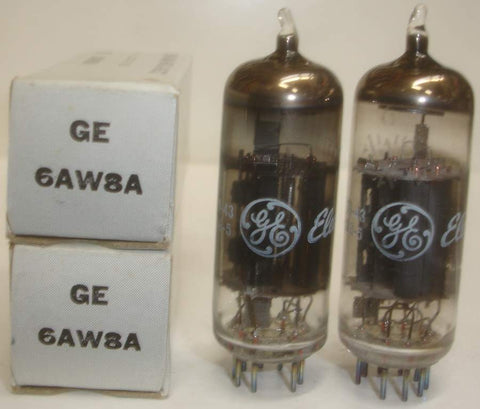 (!!) (#2 6AW8A GE Pair) 6AW8A GE NOS 1976 (matched on Amplitrex)