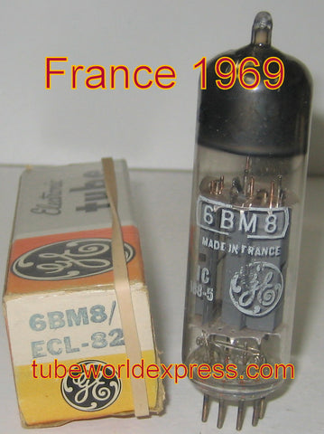 (!!) (~ Best Single ~) 6BM8=ECL82 GE France NOS 1969 in GE box (high Ma and Gm)