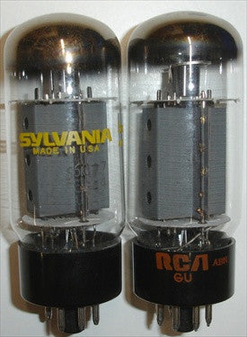 (!!!) (#1 6CA7 SYLVANIA BIG BOTTLE PAIR) 6CA7 Sylvania BIG BOTTLE 1970's NOS (91ma and 94ma) (matched on Amplitrex)