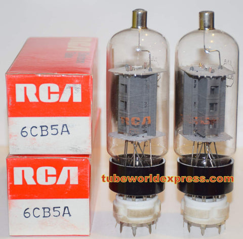 (!!) (~ Recommended Pair ~) 6CB5A RCA NOS same date codes same batch (98ma and 101ma)