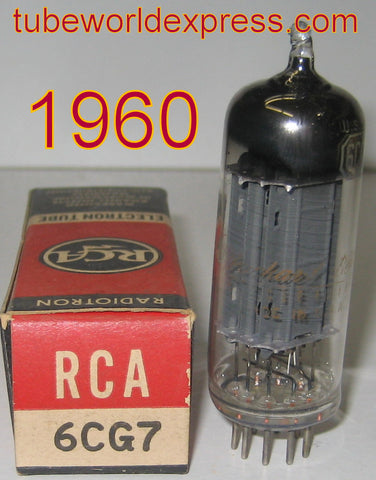 6CG7 Packard Bell by RCA used/good gray electrostatic center shield between plates 1960 (7.2ma/7.4ma)