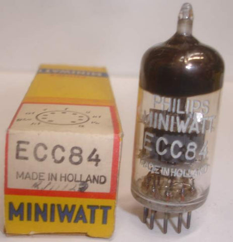 (!) (#1 6CW7 Best Single) ECC84=6CW7 Mullard branded Philips Miniwatt Holland 1962 (10.6/11.0ma)
