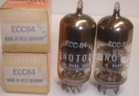 (!) (#1 6CW7 Best Pair) ECC84=6CW7 Siemens Germany Sonotone NOS 1959