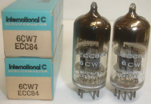 (!) (#1 6CW7 Best Pair) ECC84=6CW7 Mullard International NOS 1960 (1 pair)