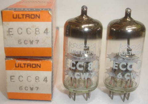 ECC84=6CW7 Ultron East Germany by RFT 1970's (1 pair)