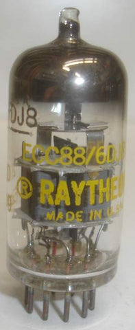 (!) 6DJ8 Raytheon USA NOS 1963 (14.4/15.2ma) (high Ma and Gm)