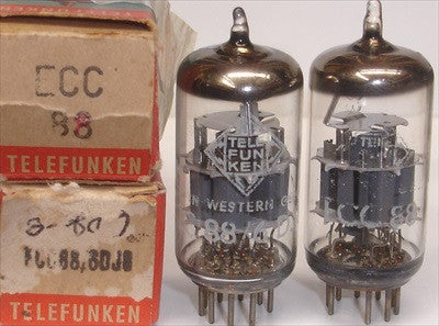 (!!!) (#1 6DJ8 TELEFUNKEN PAIR) 6DJ8 Telefunken <> bottom NOS 1960's (highest Ma and Gm)