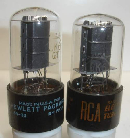 (!!) (Best Value Pair) 6K6GT RCA used/good 1960-1964 (38ma and 38.2ma)