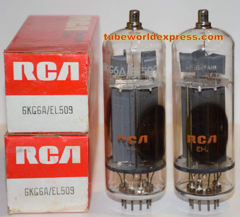 (!!!) (~ Recommended Pair ~) 6KG6A RCA JAPAN NOS original boxes 1970's (148ma and 152ma)