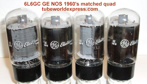 (!!!) (#1 6L6GC GE QUAD) 6L6GC GE NOS 1960's within 1ma (67.5, 67.5, 67.6, 68ma)