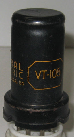 6SC7=VT-105 GE used/good 1940's (1.6/1.8ma)