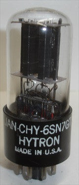 (medium microphonics) JAN-CHY-6SN7GT Hytron NOS 1951 in white box, a few scratches on base (8.2/8.4ma)