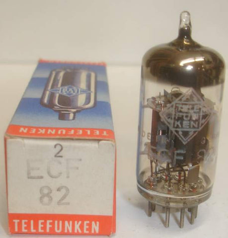 (!!!!) (Best Sounding Single) ECF82=6U8 Telefunken <> bottom NOS 1964 (19.6ma/10ma)