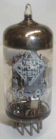 (!) ECF82=6U8 Telefunken <> bottom used/good 1967