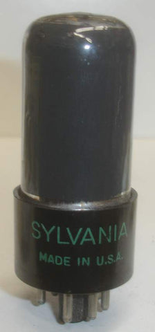 6V6GT Sylvania coated glass used/good 1953 (38.2ma)