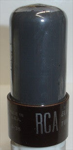 6V6GT RCA BROWN BASE - gray coated glass - used 1951 (35ma)