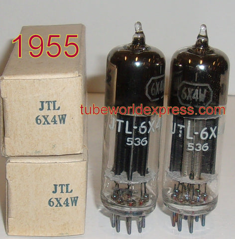 (!!!) (~ Recommended Pair ~) JTL-6X4W Tungsol NOS 1955 curved