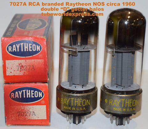 (!!!!) (~ Best Metal Base Pair ~) 7027A RCA branded Raytheon metal base NOS 1960 (67ma and 71ma)