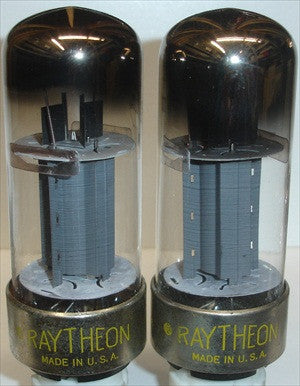 (!!!) (#2 7027A METAL BASE PAIR) 7027A RCA branded Raytheon metal base NOS 1960 (67ma and 71ma)