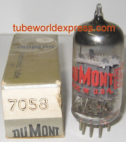 7058 RCA branded Dumont NOS 1960's mica flake loose inside tube (Gm=1600/1800)