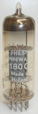 (!!) E180CC=7062 Philips Miniwatt IBM Holland low hours/tests good O getter halo 1961 (6.0/6.2ma)