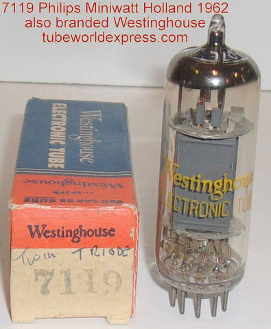 (slightly microphonic single tube) E182CC=7119 Philips Miniwatt / Westinghouse Holland NOS