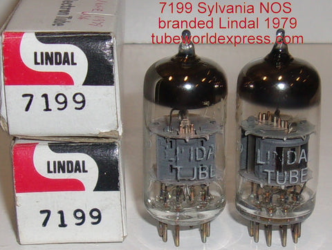 (!!!!) (Best Pair) 7199 Sylvania branded LINDAL NOS 1979 closely matched