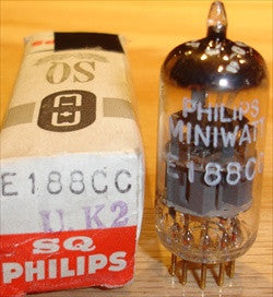 (!) (#1 7308 - BEST SINGLE) E188CC=7308 Philips Miniwatt SQ Holland NOS 1963 (14.6/17.8ma)