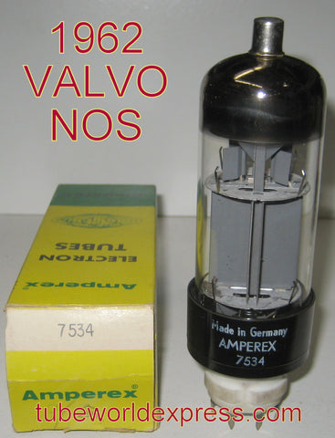 E130L=7534 Amperex by Valvo Germany NOS 1962 in Amperex box (102ma)