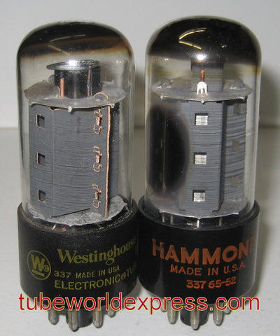 (!!) (~ Best Pair in stock ~) 7591 Westinghouse used/good 1960 and 1965 same build (63ma and 63ma)