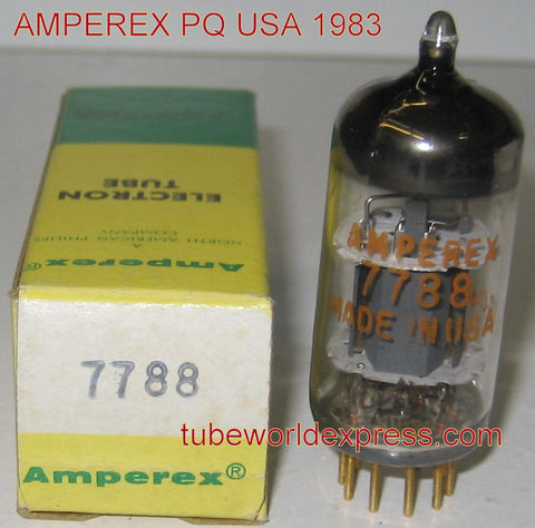 7788=E810F Amperex PQ USA NOS 1983 (62ma) (strong Ma and Gm)
