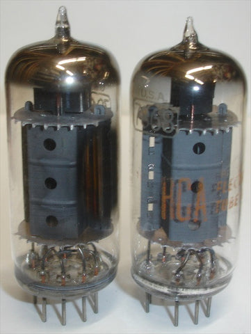 (!!) (#2 7868 RCA PAIR) 7868 RCA tipped top NOS mid-1960's (54ma and 56.4ma) (matched on Amplitrex)