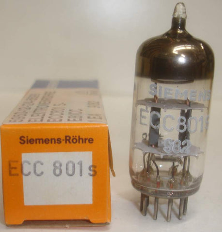 (!!!) (Best Overall Single) ECC801S=12AT7 Siemens Munich Germany NOS 1981-1982 (9.6/11ma)